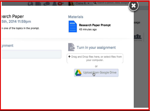 A Quick Way for Students to Hand in Their Google Drive