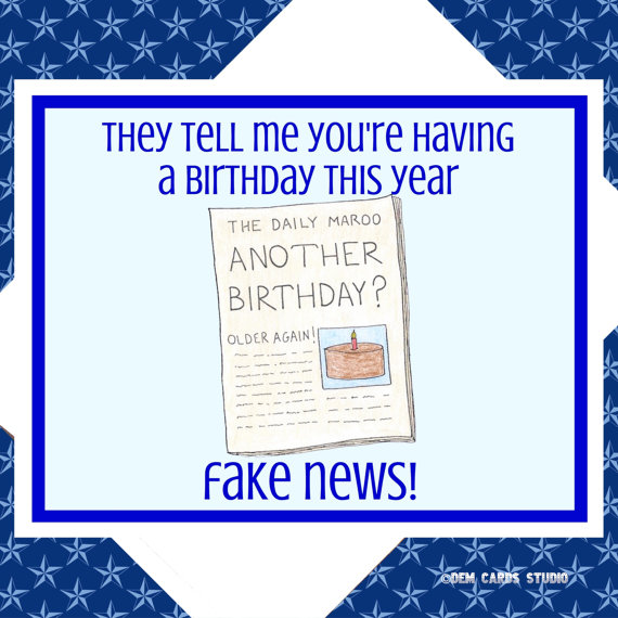 Funny Birthday Card Trump Cards Political Democrats Anti Humor