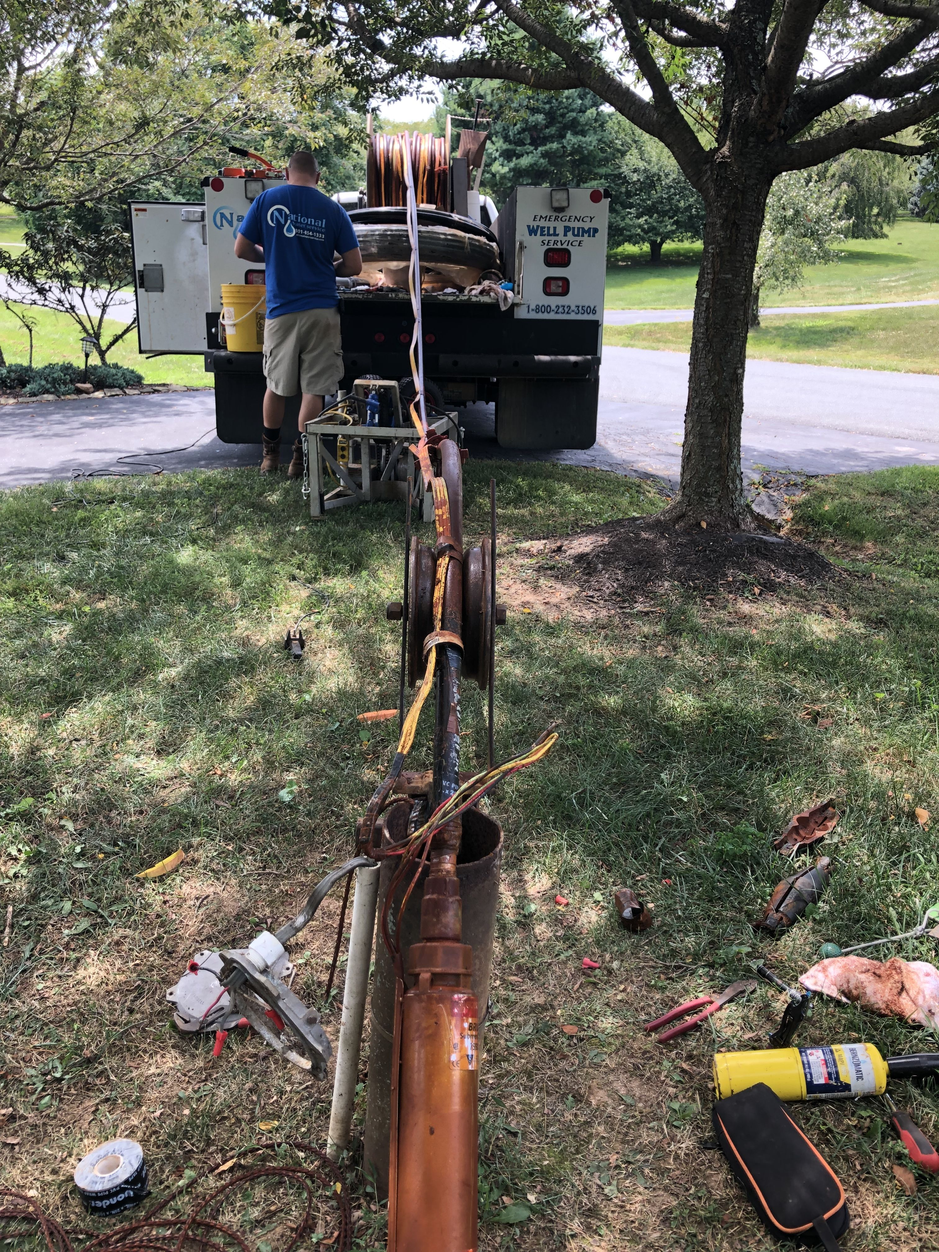 Replacing Bad Well Pump Well Pump Water Treatment Clean Water