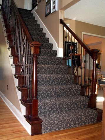Dramatic Staircase Transformation Overland Park Home Carpet Staircase Carpet Stairs Stair Runner Carpet