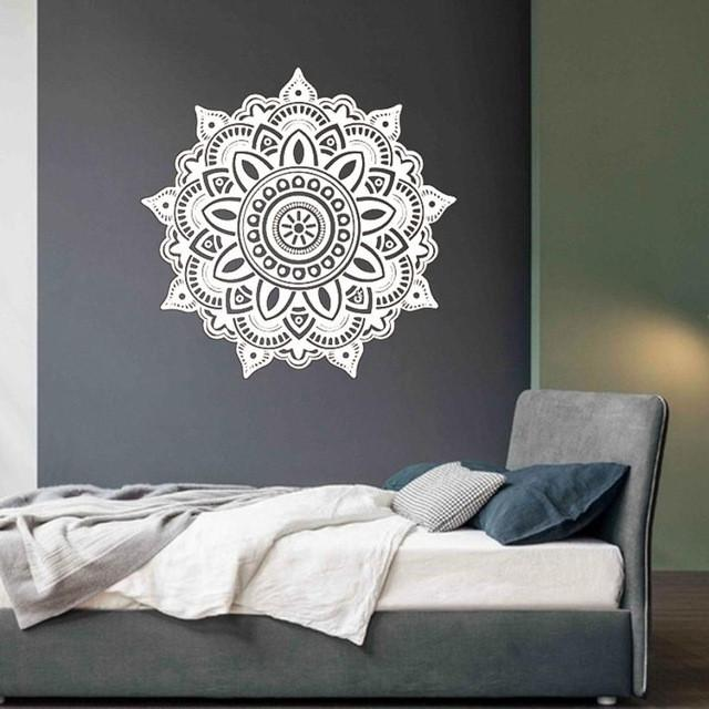 mandala flower indian bedroom wall decal | indian bedroom and products