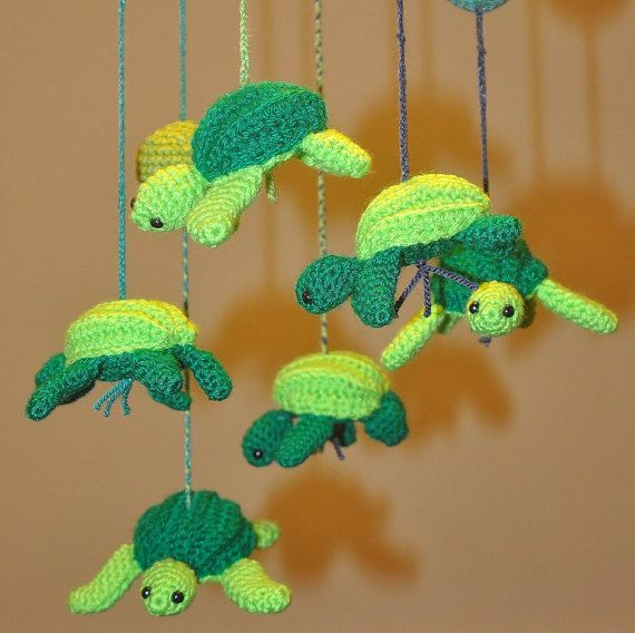 Turtle mobile, Sea nursery decor, Baby mobile, Baby shower ... - photo#36