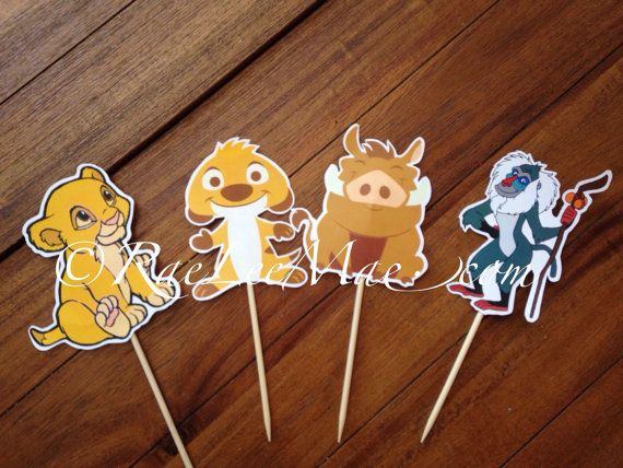 Lion king cut outs diecuts  lion king baby shower decorations  DIY
