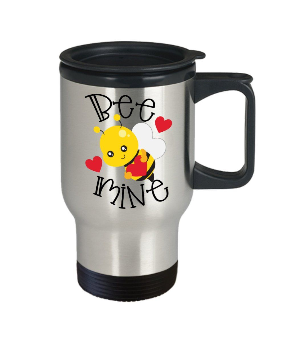 Personalized saint valentine's coffee mug with lid, this