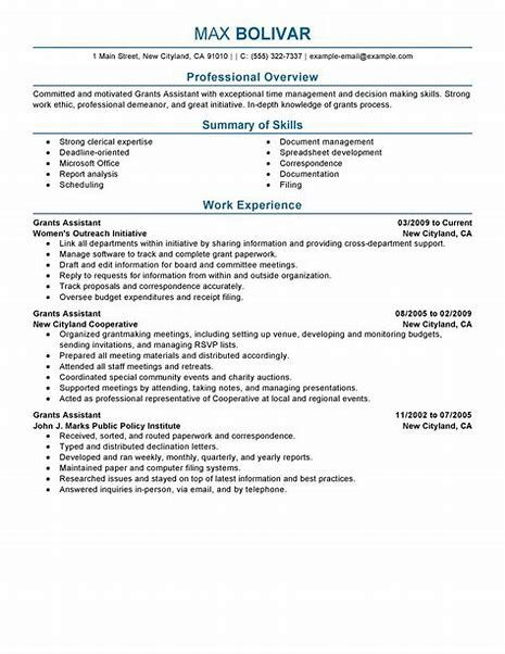 Perfect Resume Example Luxury G General Resume Examples Perfect