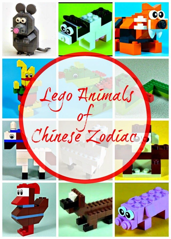 Chinese Zodiac Animals In Lego Lego Pinterest Lego Animals