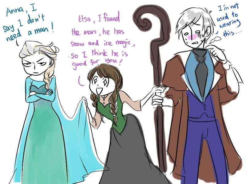 Elsa's engagement by Christy58ying on deviantART | Frozen's Elsa and Anna and Rise of the Guardians' Jack Frost