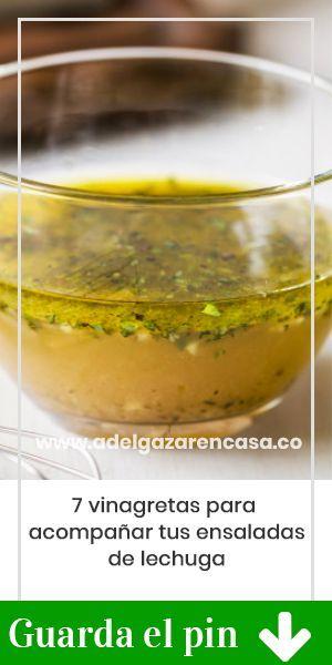 7 vinagretas para acompañar tus ensaladas de lechuga