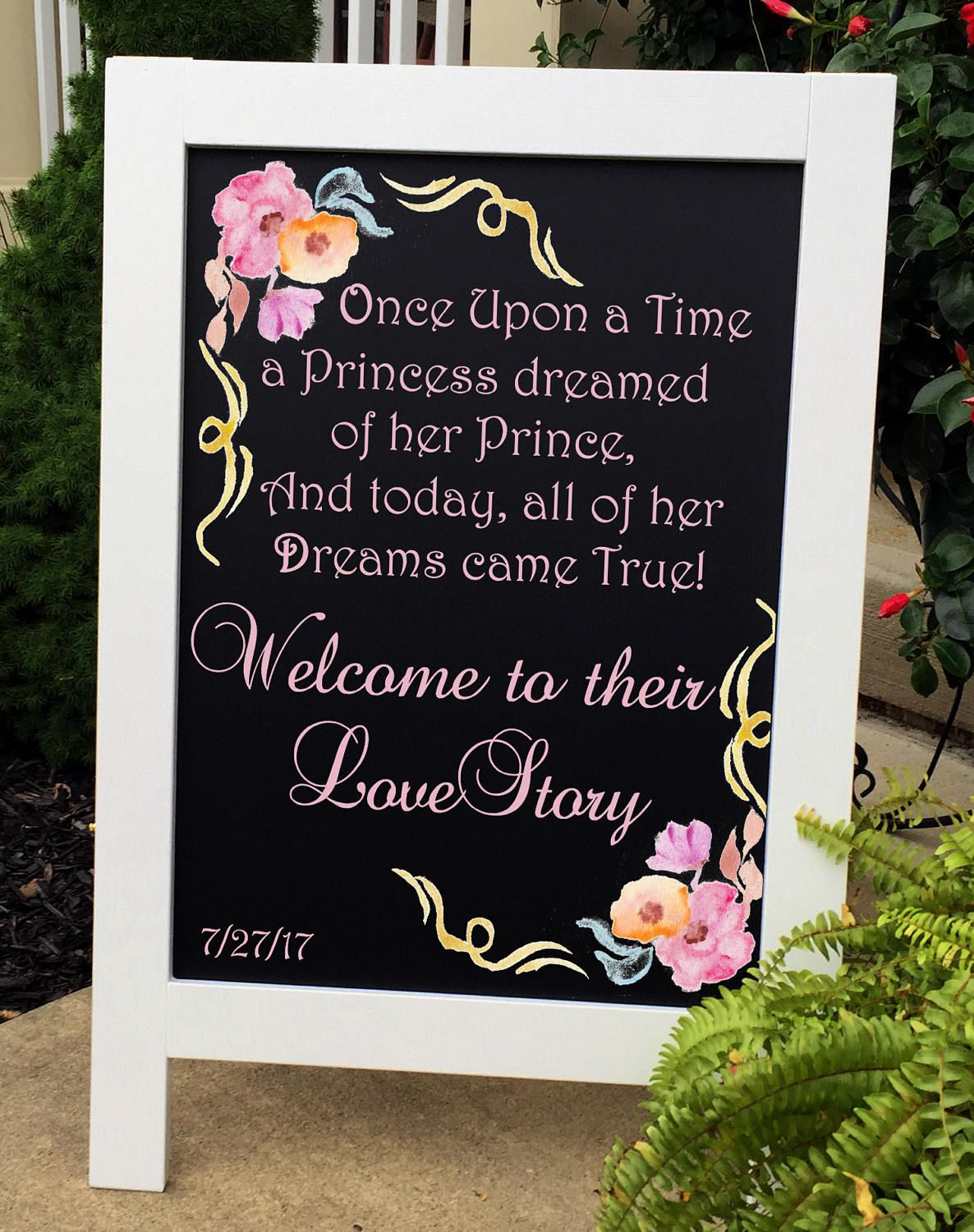 Once Upon A Time Wedding Sign Fairy Tale Wedding Theme Beauty And