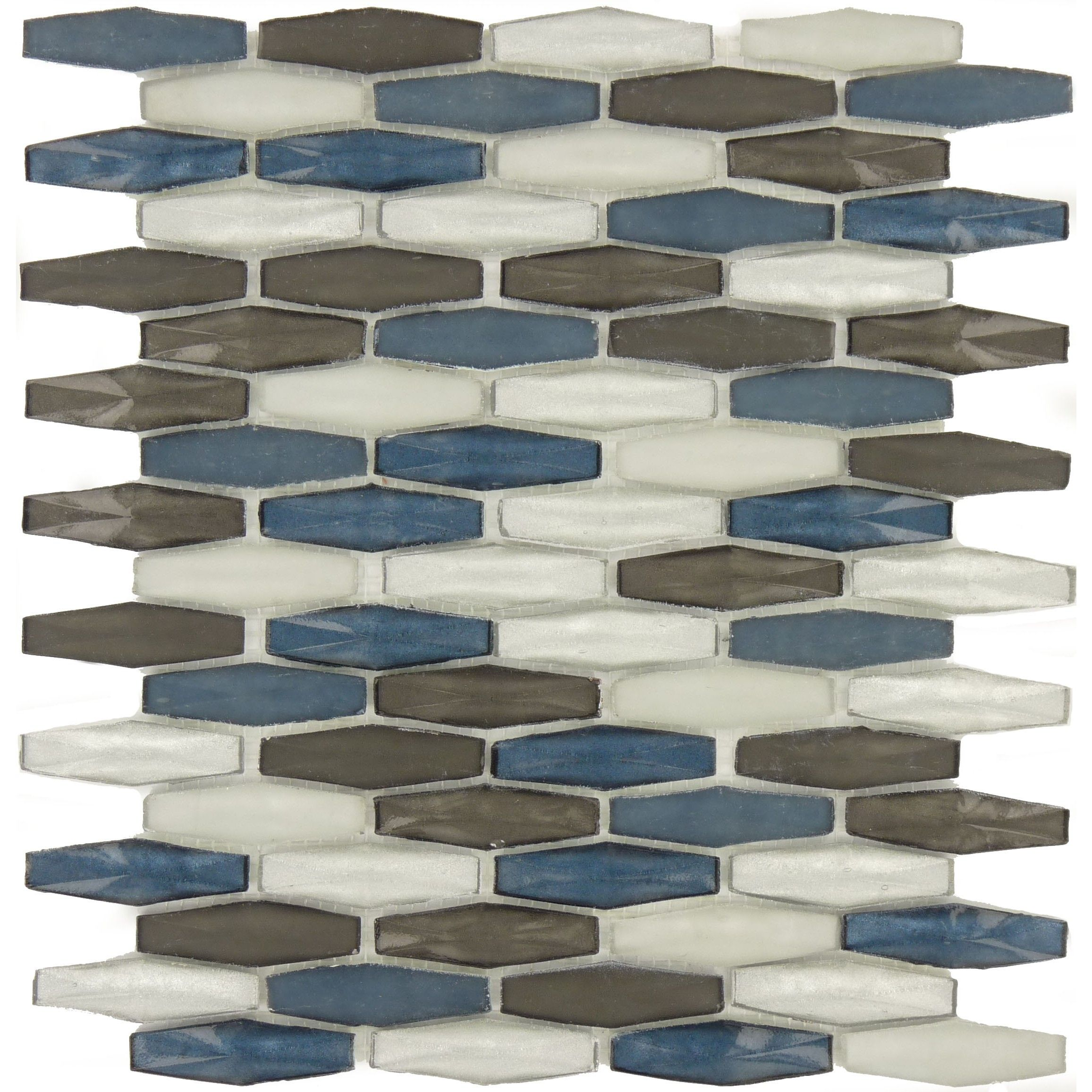 Sheet Size 10 1 X2f 8 Quot X 11 5 X2f 8 Quot Tile Size 5 X2f 8 Quot X 2 3 X2f 8 Quot Tiles Per Glass Tile Hexagon Tiles Blue Glass