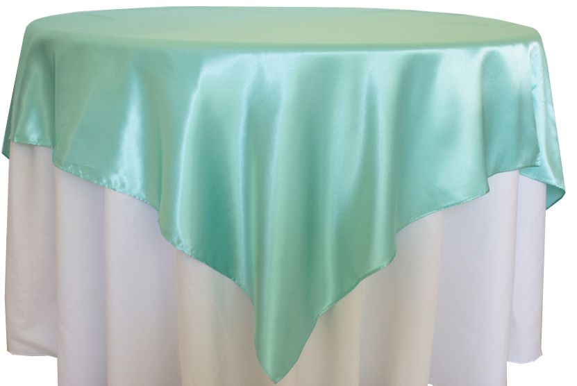 Tiffany Blue Satin Table Overlay Provided By Waterford Event