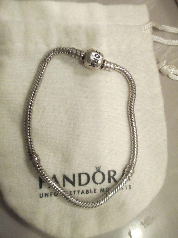 1feb340c0 Authentic Pandora 7.5 In Sterling Silver Charm lock Bracelet retired # PANDORA #European
