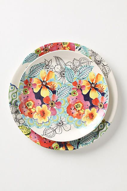 Flights And Fancy Dinner Plate - anthropologie.com & Flights And Fancy Dinner Plate - anthropologie.com | Porcelana ...