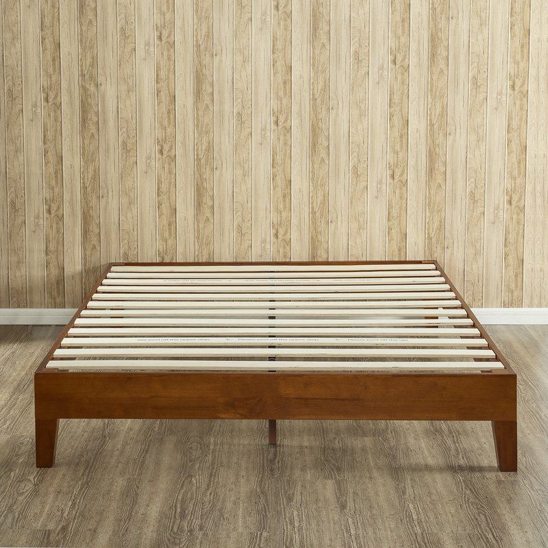 The Zinus Deluxe Wood Platform Bed Is Beautifully Simple And Works Well With Any Style Of Hom Wood Platform Bed