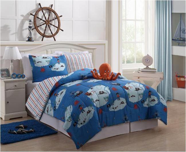 Boys Kids Bedding Reversible Squid Bed In A Bag Comforter Sheet Set Blue Comforter Sets Kids Comforter Sets Kids Beds For Boys Boys twin bedding in a bag