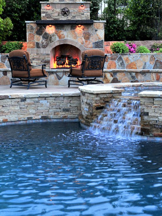 53 Cool Backyard Pond Design Ideas: Traditional Pool Hot Tub Design, Pictures, Remodel, Decor