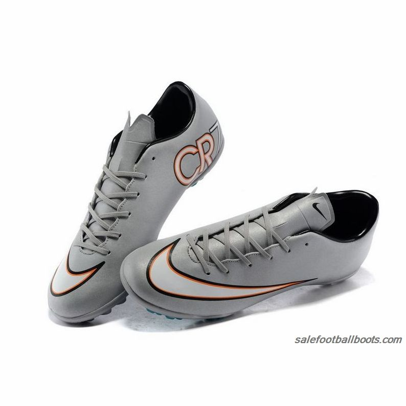 Women Nike Mercurial Superfly CR7 TF Flash Silver White Orange