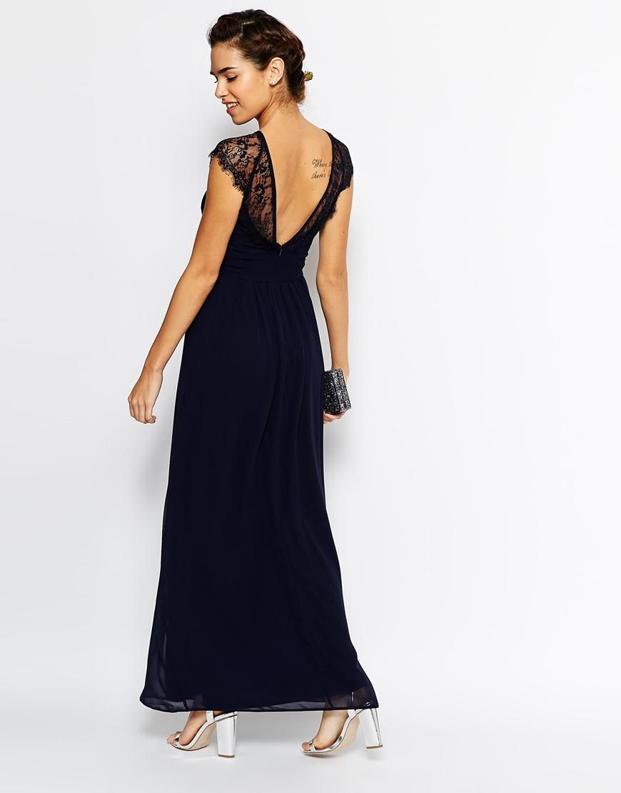 Womens Pleated Chiffon with Lace Dress Elise Ryan Cheap Best Store To Get Outlet Free Shipping Authentic 100% Authentic Cheap Online Cheap Ebay Cheap Geniue Stockist vMUWk5ktQC