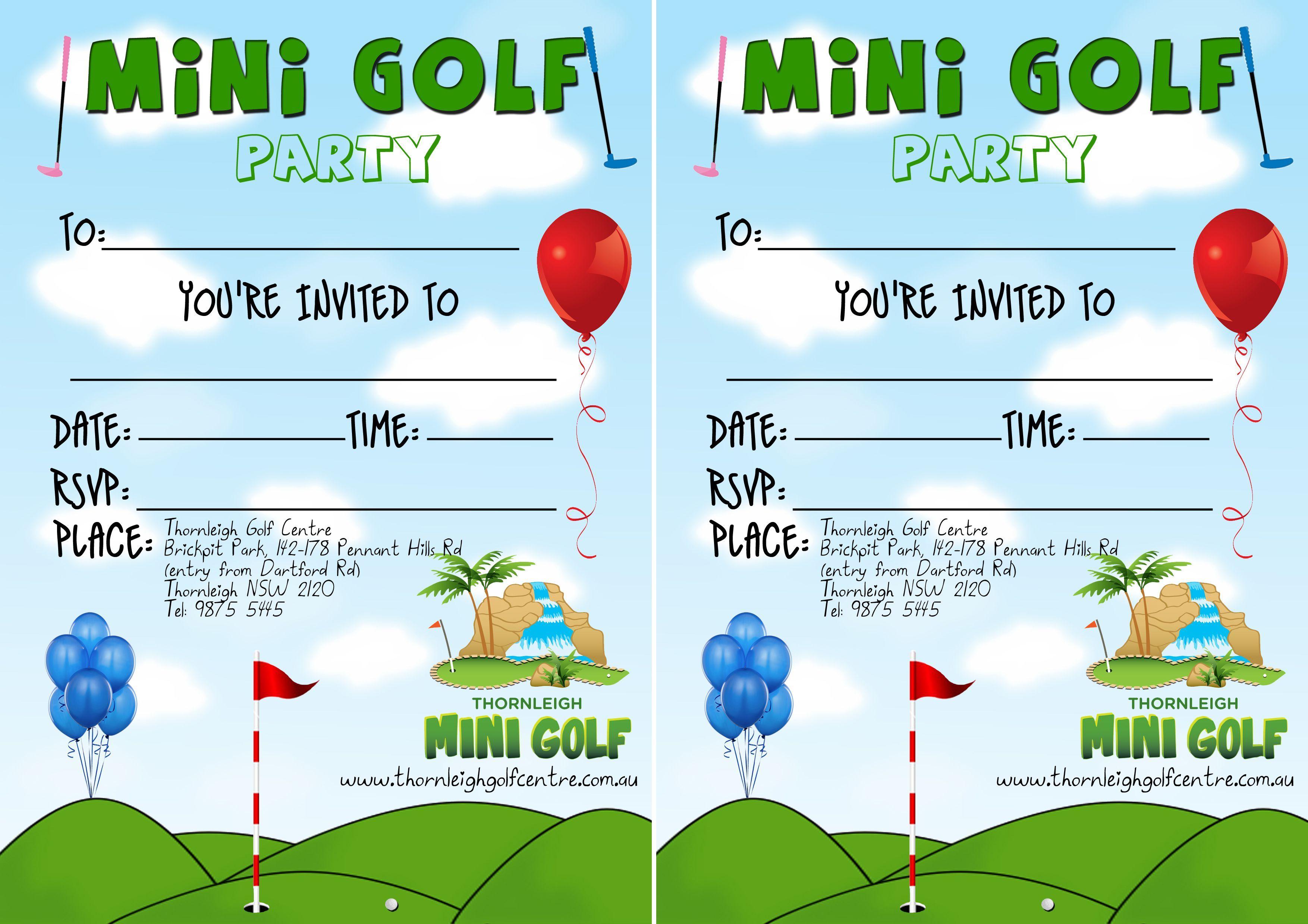 Lovely Einladungskarten Fur Geburtstage #10: Einladungskarten Geburtstag Minigolf