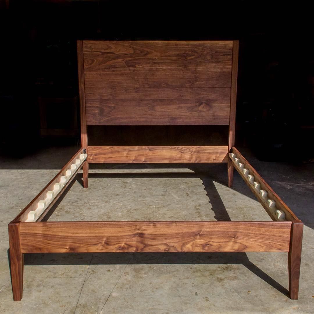 Giant 32 Headboard On This Queen Size Midmodxl Solid Walnut Bed