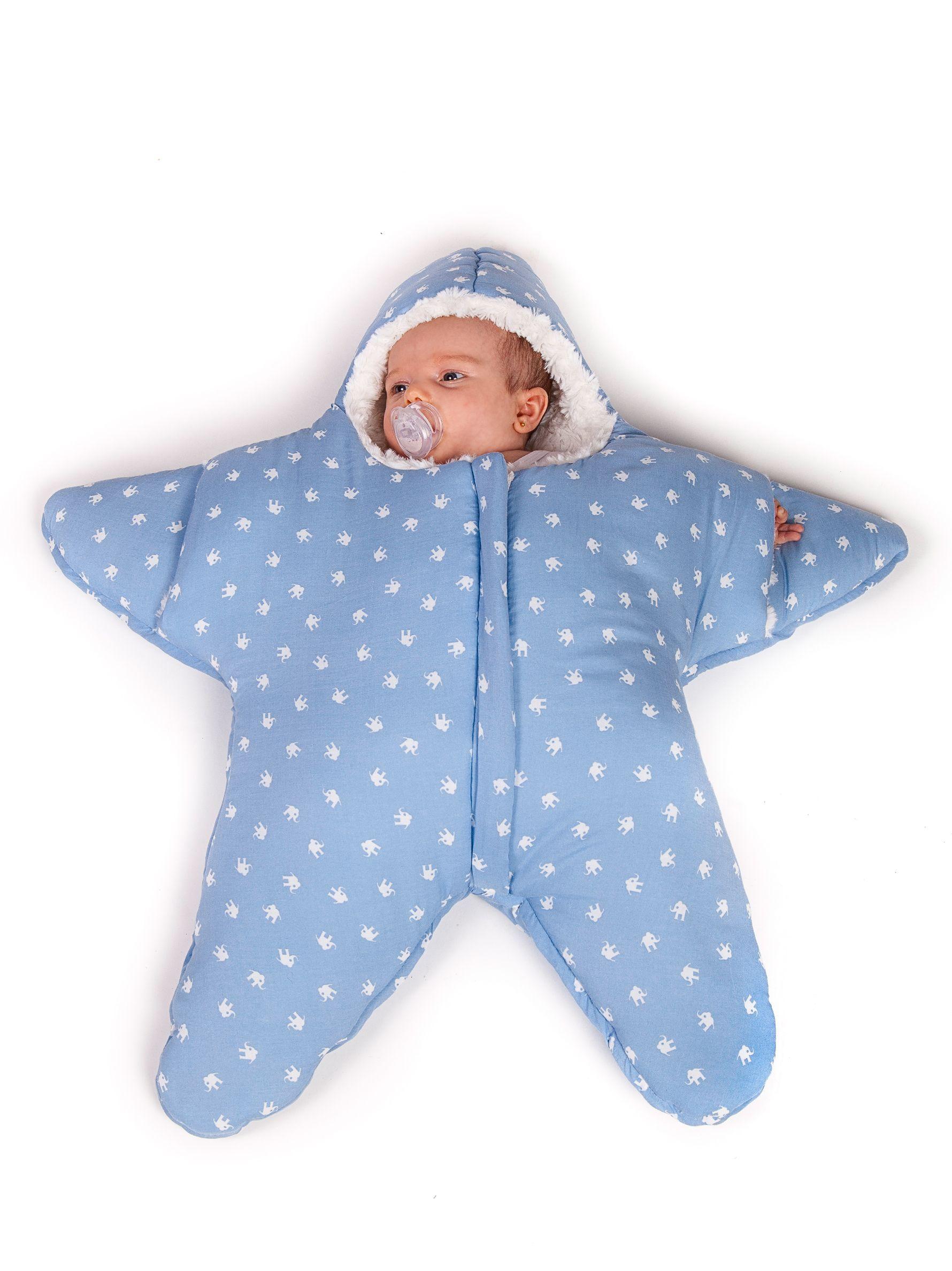 Saco Estrella Azul para bebés hasta los 3-4 meses de Baby Bites | I ...