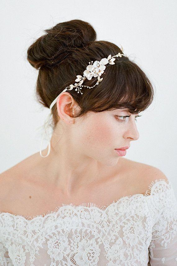 Casco de la boda pedazo del pelo de novia tocados por BrideLaBoheme