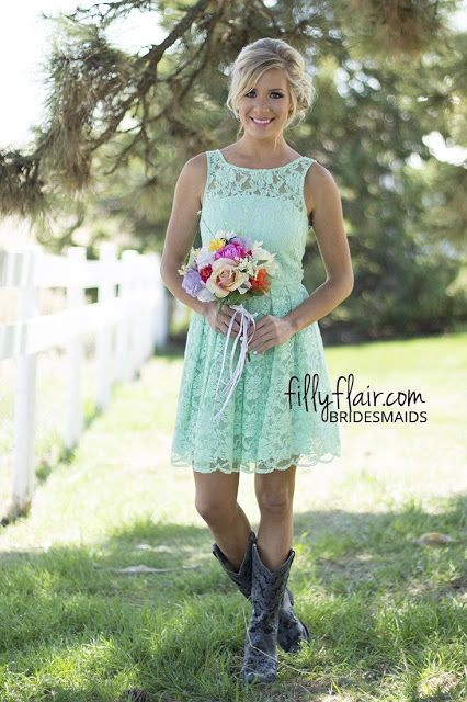 Country Bridesmaid Dresses Light Teal