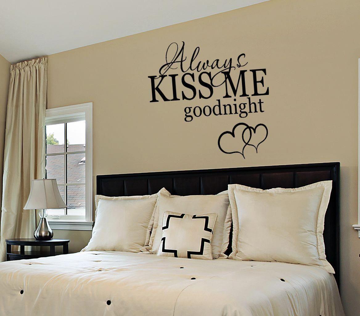Bedroomwalldecalalwayskissmebyfourpeasinapodvinylonetsy