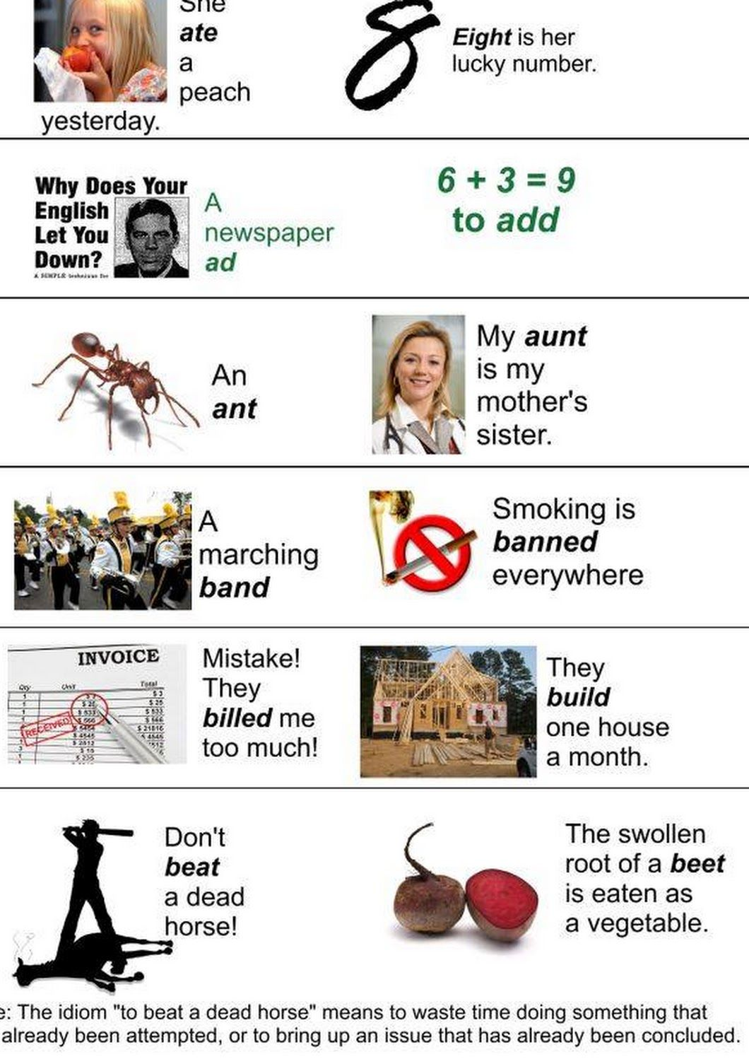 Homophones are words that sound the same but are written differently and have different meaning: