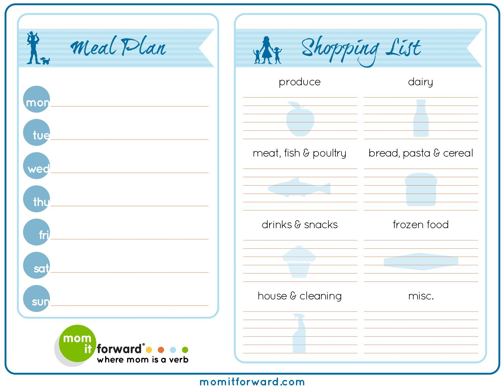 Meal Planning Made Simple  Meal Planning Printable Meals And
