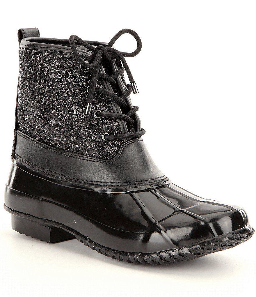 adb2eced74b Black:Gianni Bini Stormie Glitter Duck Boots | Boots in 2019 | Boots ...