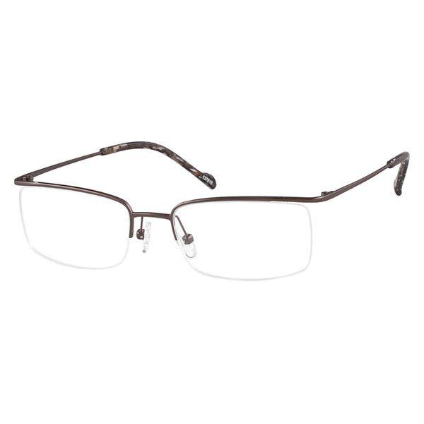 2871e68d656 Zenni Rectangle Prescription Eyeglasses Brown Titanium 137815 ...