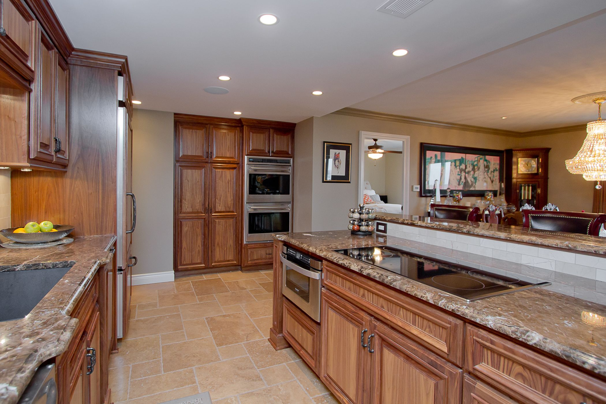 Dark Walnut Kitchen Cabinetry Condo On The Plaza Kansas City Mo Cabinetry Design Kitchen Cabinetry Custom Cabinetry