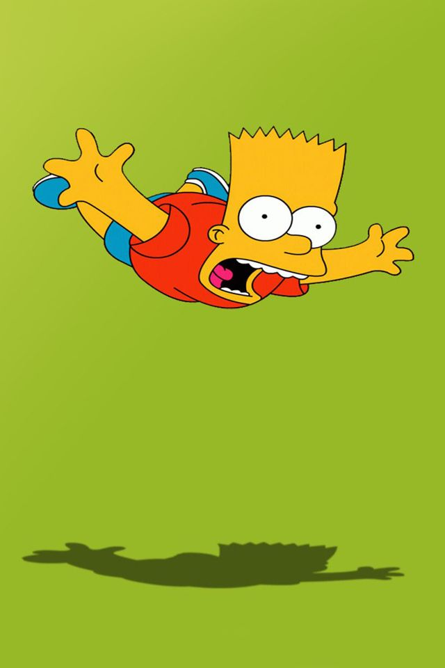 The Simpsons IPhone HD Wallpapers Cartoons Images For Background Bart Simpson Skateboarding