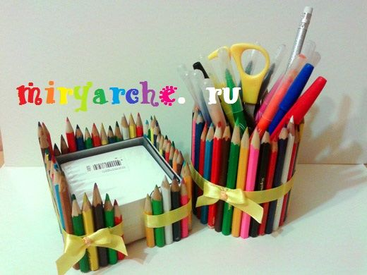 Идеи для карандашей своими руками