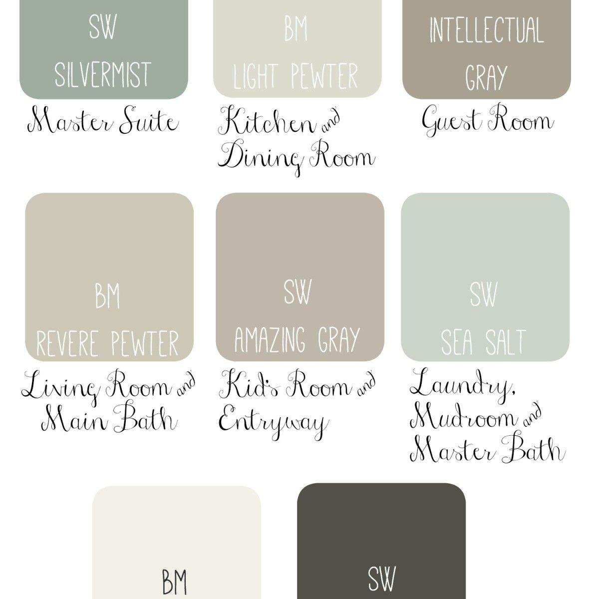 Lovely Whole House Paint Scheme Idea: Soothing U0026 Sophisticated