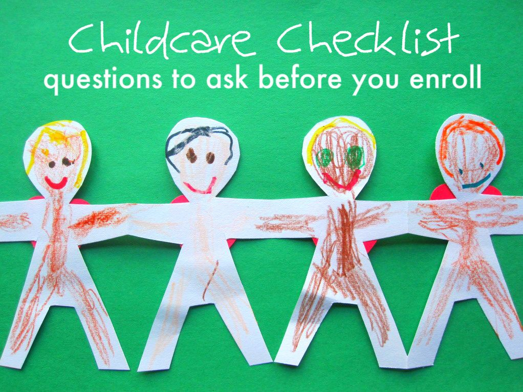 Child Care Checklist {questions to ask before you enroll ...