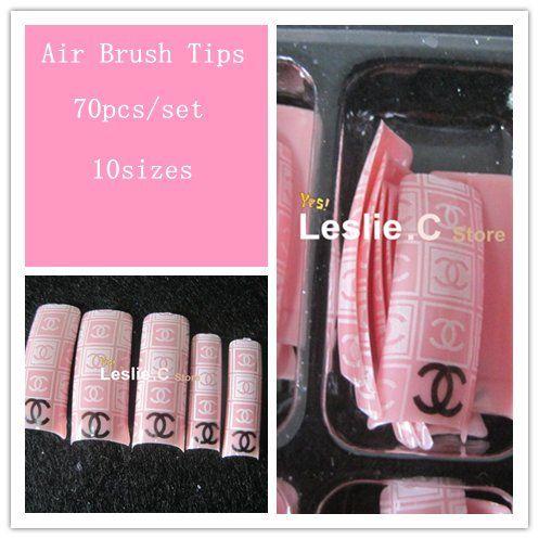 Free Shipping Air Brush Nail Tips 560 Airbrush Pre Design 70pcs Set 10sets Lot 28 72