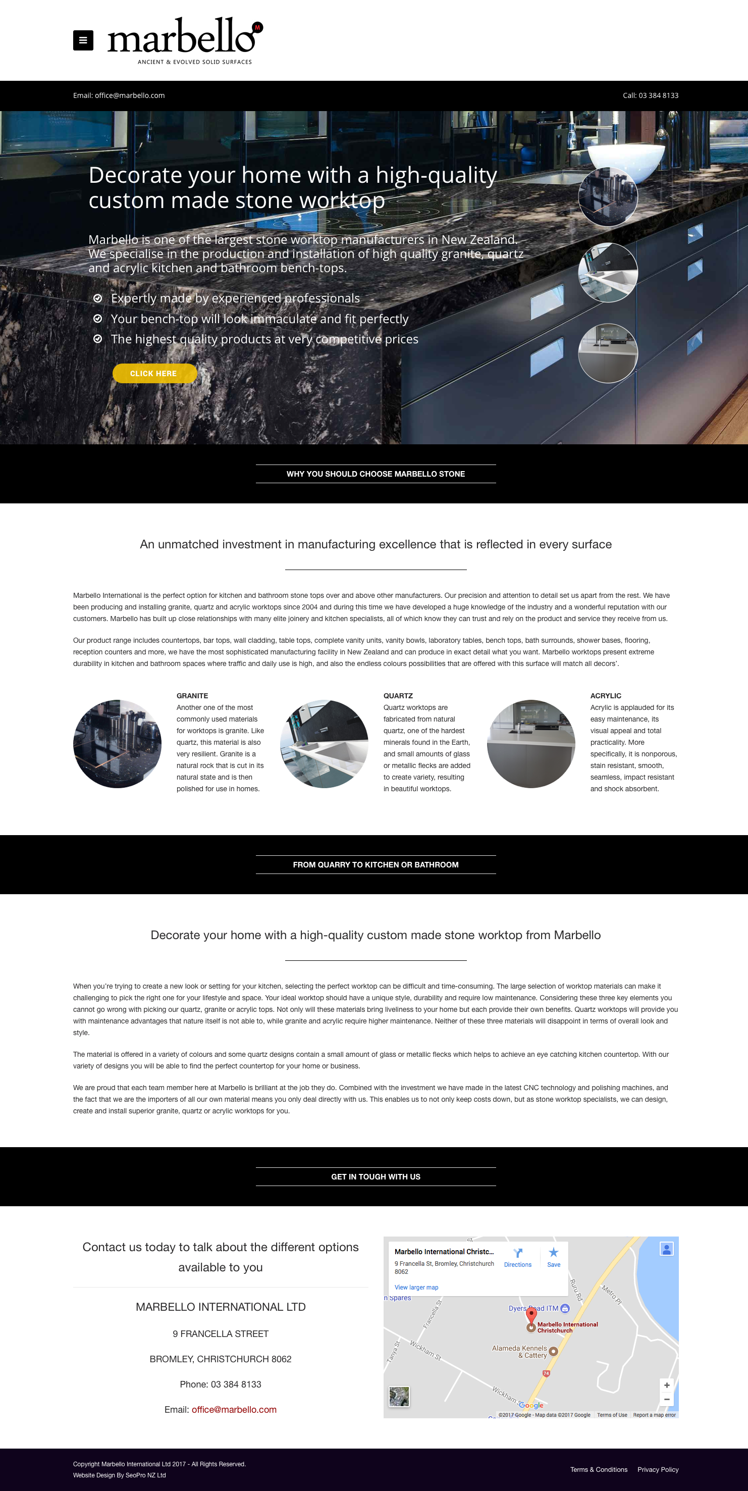 Design For A Stone Worktops Company In 2020 Digital Marketing Company Web Design Digital Marketing