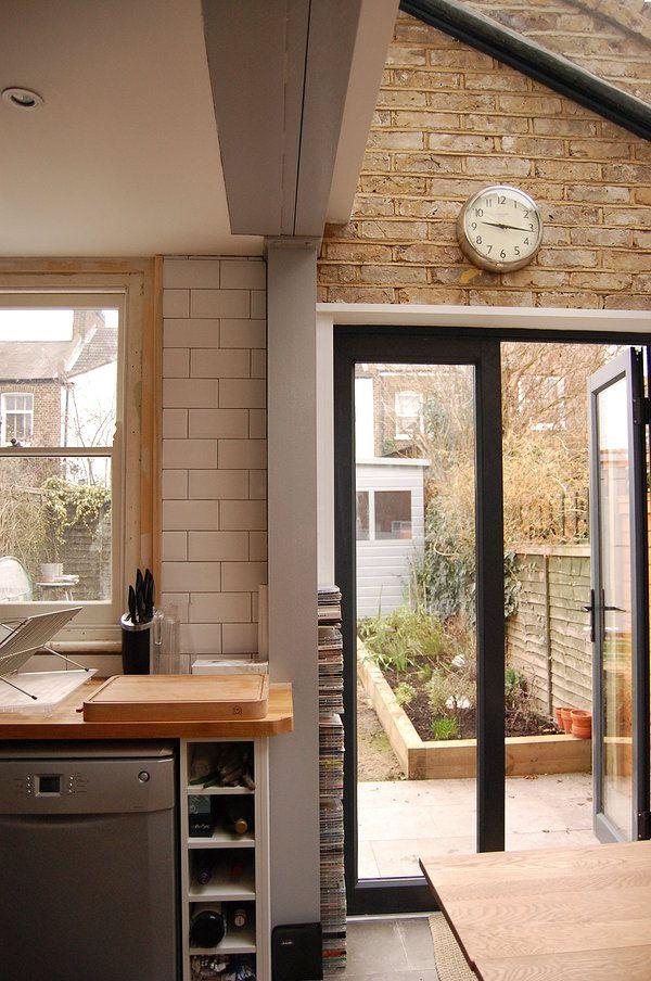 green tea architects side return extension brockley exposed brick simple exposed steel. Black Bedroom Furniture Sets. Home Design Ideas
