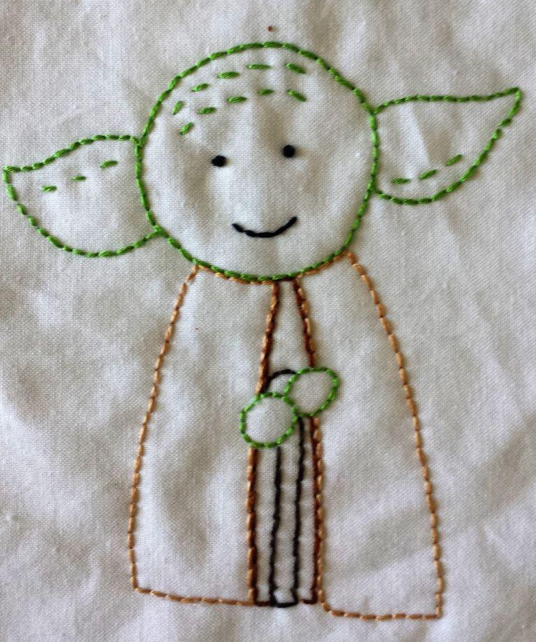 Free Printable Master Yoda Hand Embroidery Pattern Geeknots