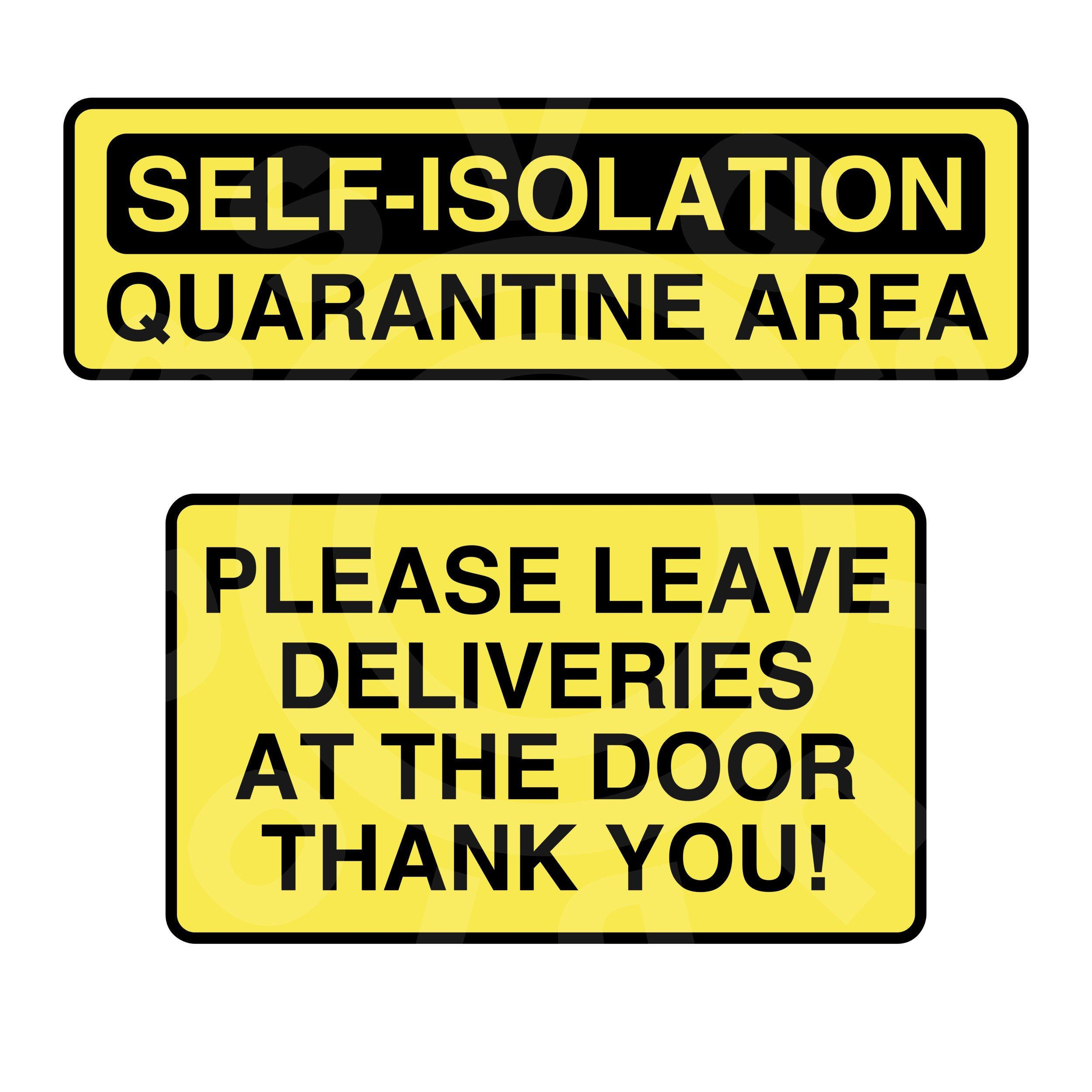 This is a graphic of Gutsy Quarantine Sign Printable