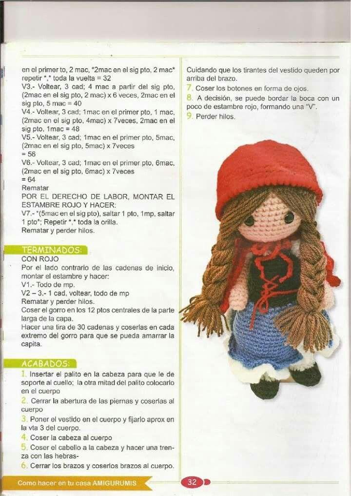 Caperuza4 | ganchillo | Pinterest | Muñecos en crochet, Revistas y ...