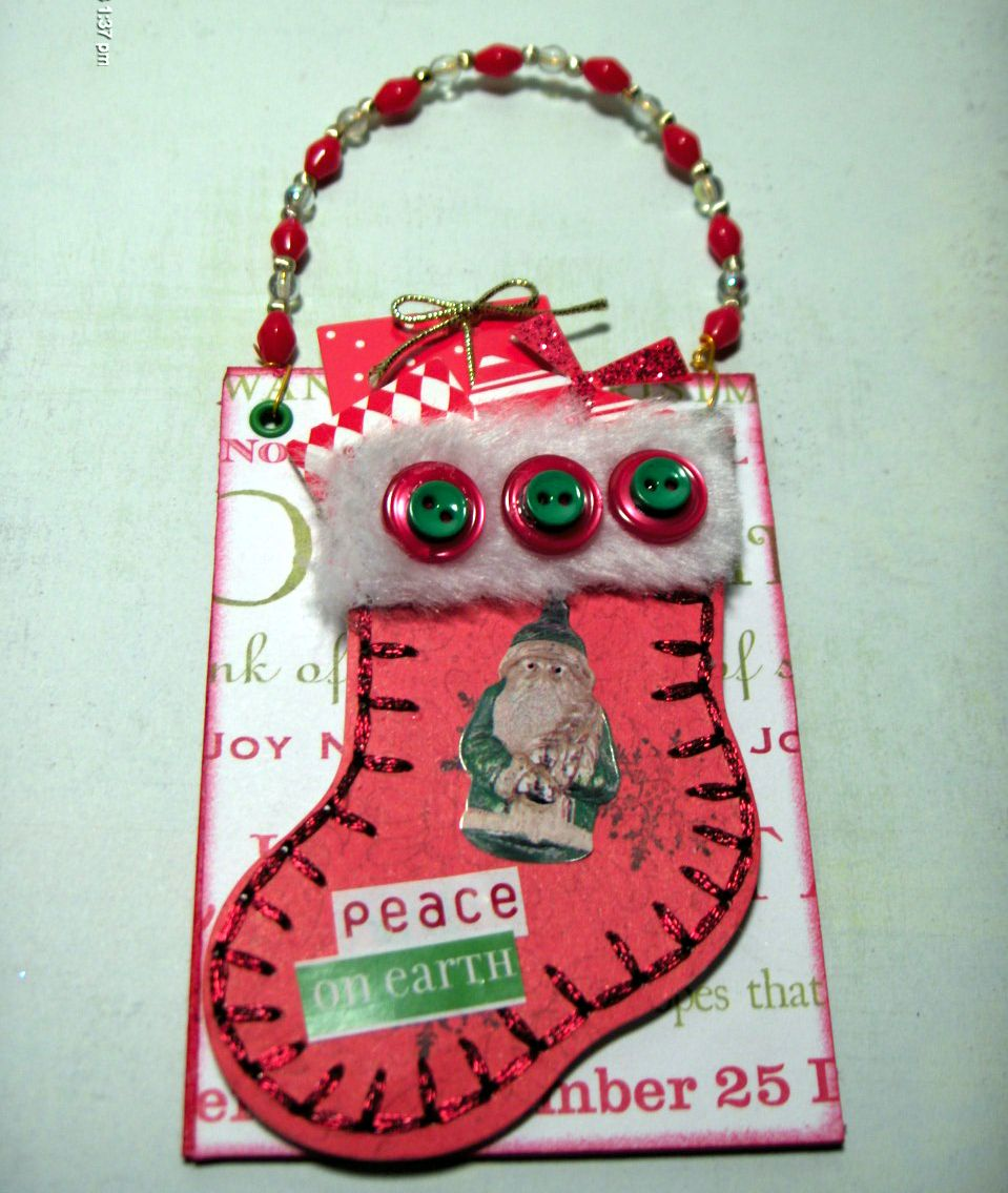 christmas stocking hanging ATC