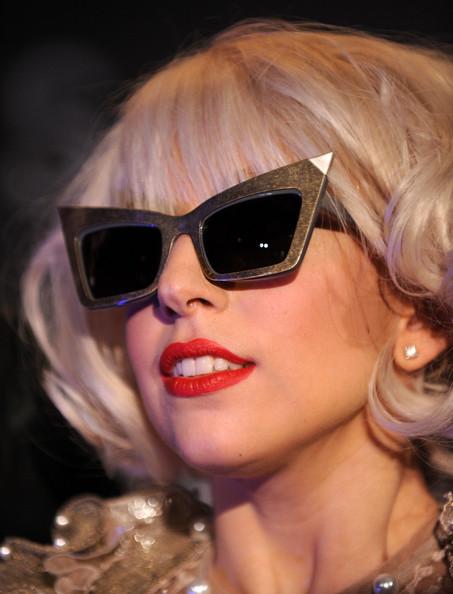 a515695995 Lady Gaga in Alexander Wang by Linda Farrow cat-eye sunglasses ...