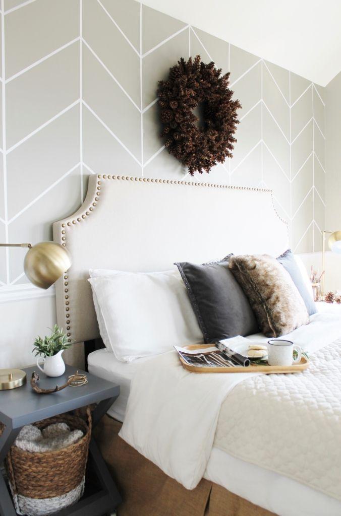 Simple Modern Farmhouse Holiday Bedroom