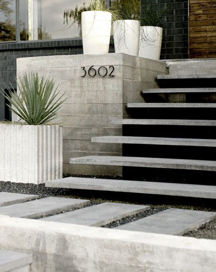 Modern Front Steps Design Pictures Remodel Decor And Ideas | Outside Entrance Stairs Design | Landscaping | Front Yard Stair | Cool | Upstairs | Simple