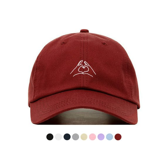 best sneakers 8e7d0 09b59 HAND HEART Baseball Hat, Embroidered Dad Cap • Love Hand Gesture •  Unstructured Six Panel • Adjustab