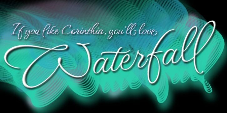 Waterfall font download | Fonts | Fonts, Calligraphy fonts, Waterfall