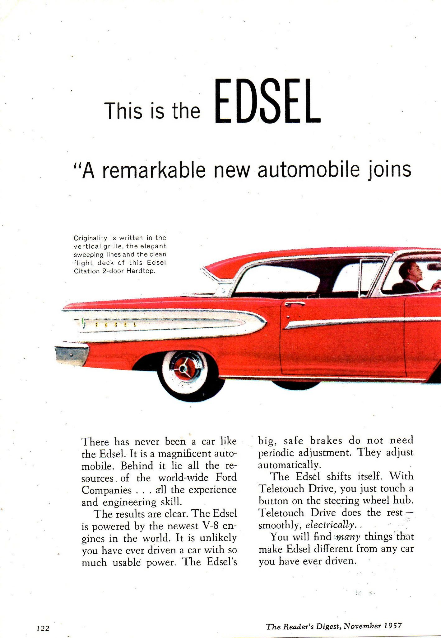 1957 World Wide Ford Companies Edsel Page 1 Aussie Original Magazine ...